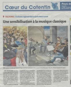 photo article presse de la manche orchestre de normandie